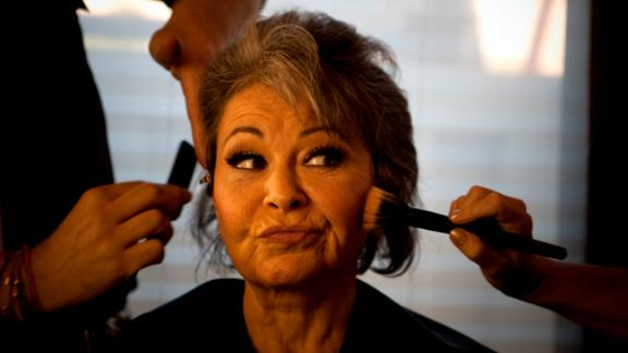 Comedian Roseanne Barr, has her makeup and hair done before her roast by Comedy Central at the Palladium in Hollywood Saturday, August 4, 2012.  (Photo by Allen J. Schaben/Los Angeles Times via Getty Images)