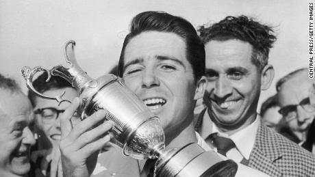 Player won the British Open at Muirifeld, Scotland in 1959.