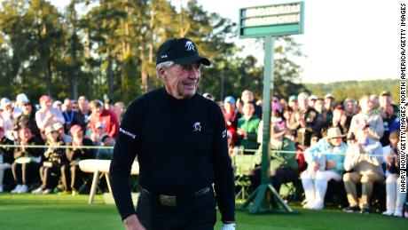 Gary Player won three Masters at Augusta and is now the tournament's honorary starter with Jack Nicklaus.