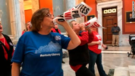 Kentucky teachers to skip work after lawmakers' 'bait and switch'