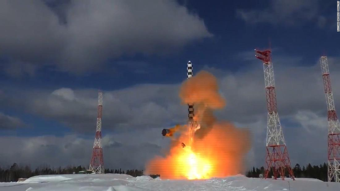 Russia releases 'Satan 2' missile test footage