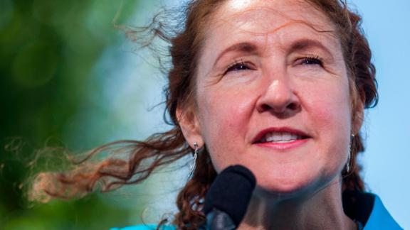 WASHINGTON, DC - MAY 03: Rep. Elizabeth Esty (D-CT) speaks during a press conference on gun safety on Capitol Hill on May 3, 2017 in Washington, DC. (Photo by Zach Gibson/Getty Images)