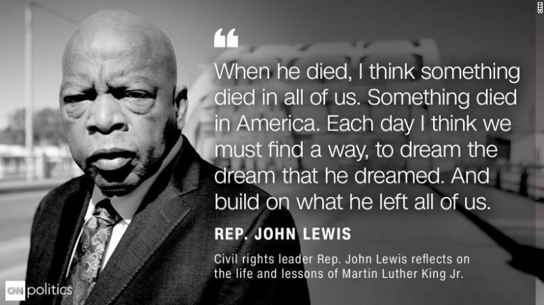 Lewis quote MLK anniversary