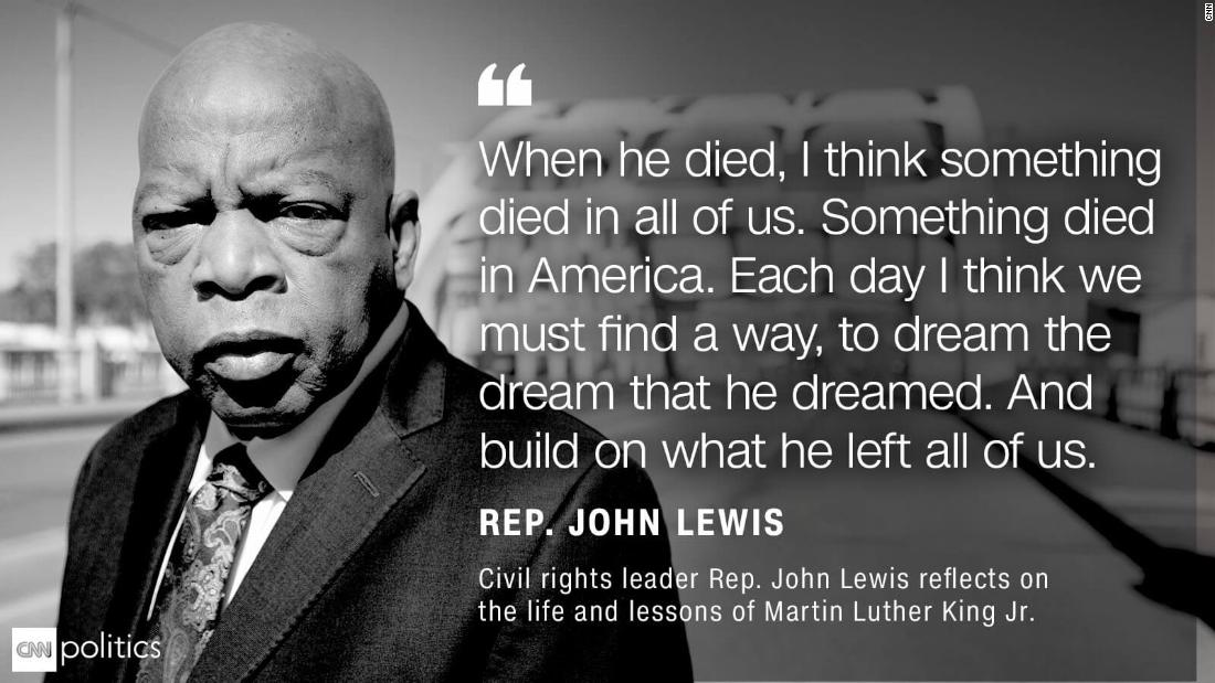 Lewis quote MLK anniversary