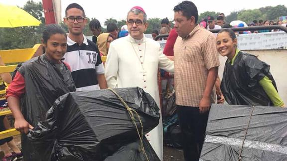 The Catholic diocese in Cúcuta, Colombia, donated 250,000 communion wafers to Venezuela's Catholic Church, it said.