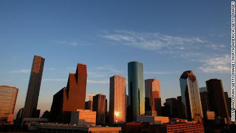 HOUSTON, TX - MARCH 26:  A view of the Houston skyline at dusk on March 26, 2013 in Houston, Texas.  (Photo by Scott Halleran/Getty Images)