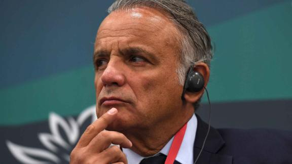 3185716 09/06/2017 Deputy Executive Director of Programme at UNAIDS Luiz Loures at the panel session, Education in the Asia-Pacific: New Challenges and Opportunities, during the Eastern Economic Forum in Vladivostok. Evgenya Novozhenina/Sputnik  via AP
