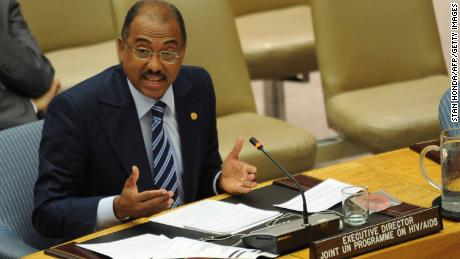 Michel Sidibé, executive director of UNAIDS, speaks at the UN in 2011.
