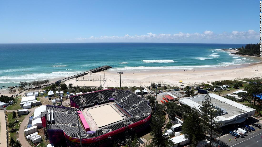 Views don't get much better than the dazzling Coolangatta beach, which will morph into the beach volleyball arena for the Commonwealth Games. Up to 4,000 will pack onto the shores of the Gold Coast for the action.