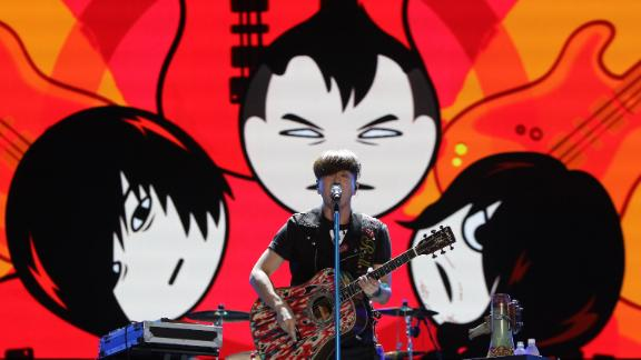 Yoon Do-hyun of YB Band performs during the Pentaport Rock Festival on August 3, 2013 in Incheon, South Korea.
