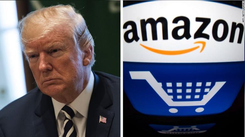 Trump accuses Amazon of scamming USPS