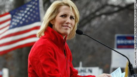 WASHINGTON - DECEMBER 15:  Conservative radio host and commentator Laura Ingraham addresses a health care reform protest on December 15, 2009 in Washington, DC. Demonstrators, many bused in from around the country, protested next to the Capitol building hoping to derail Senate health care legislation.  (Photo by John Moore/Getty Images)