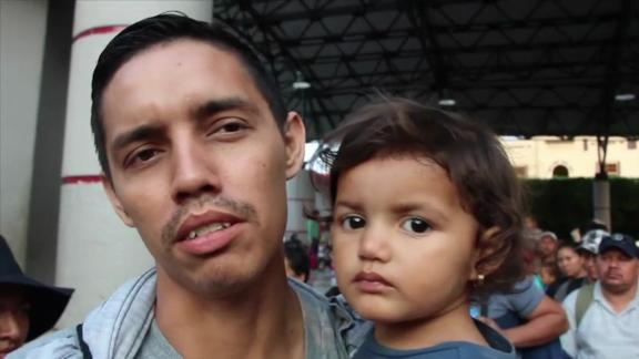 Honduran Misael Bonilla says widespread crime forced his family to flee.