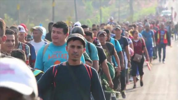 "A group of Central Americans crossed into Mexico in March as part of a migrant ""caravan"" heading to the United States border."