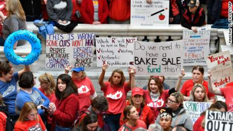 Kentucky governor signs controversial pension bill as teachers call for rally