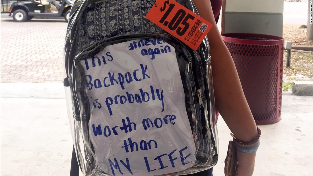 How Parkland students feel about their mandatory clear backpacks - CNN 97022ce816ed8