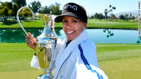 Pernilla Lindberg won her first major in a playoff against Inbee Park at the ANA Inspiration.