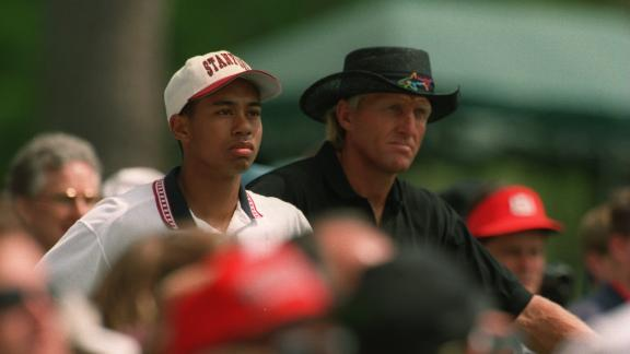 Woods made his debut in the Masters as an amateur in 1995, finishing tied 41st.