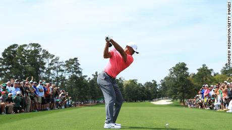 Tiger Woods Masters Augusta first tee 2018