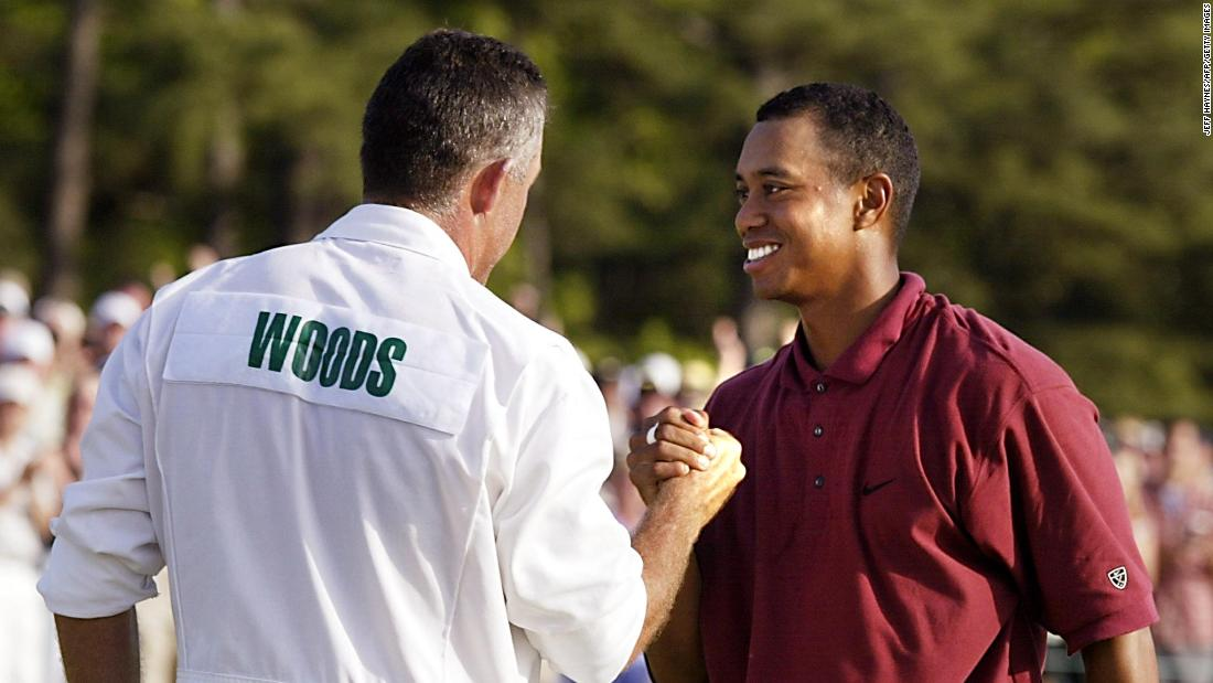 He won his third green jacket in 2002, winning by three shots from South African Retief Goosen.