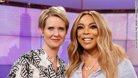 Cynthia Nixon visits The Wendy Williams Show on Wednesday, April 4, 2018. (Jason DeCrow/The Wendy Williams Show)