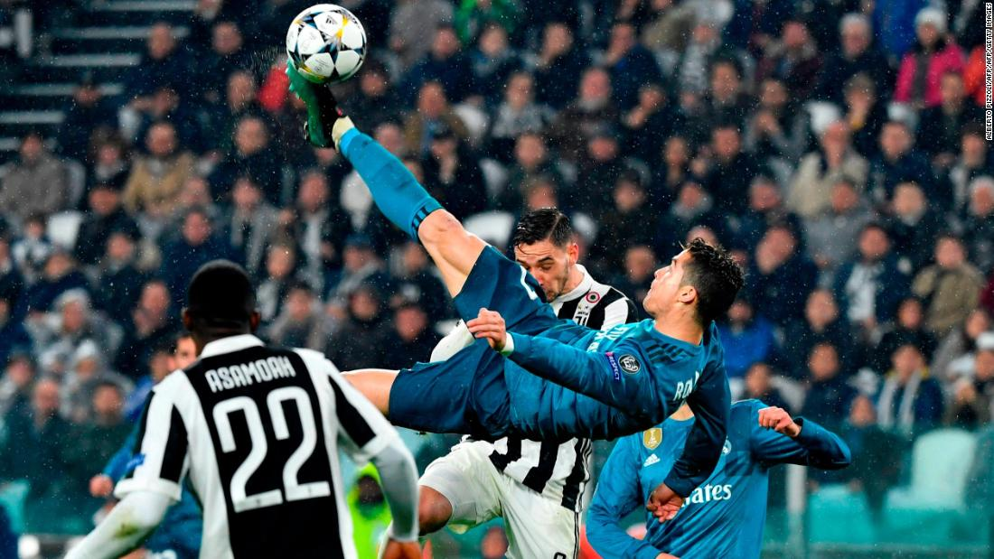 Ronaldo scored one of the most memorable goals of his career against Juventus: A mesmerizing bicycle kick in the 2018 Champions League quarterfinal played in Turin on April 3.