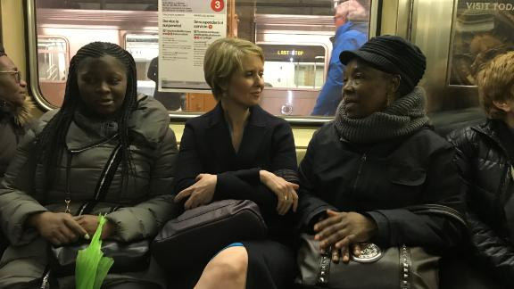 Cynthia Nixon runs for New York GovernorShe road subway w gaggle and supporters - about 30 people at first. Talked about her watershed moment - what made her want to run. She said it was the election of Donald Trump, coupled with Cuomo failing to increase education funding, despite promising to do so.