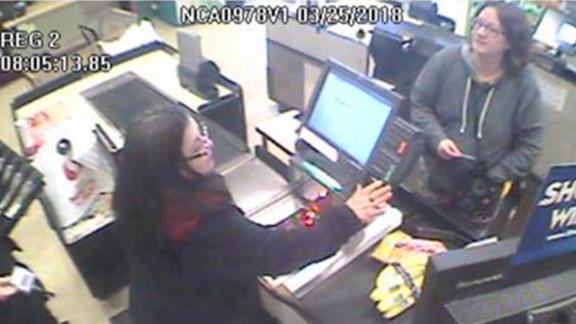 Jennifer Hart shops at a Safeway in Fort Bragg, California, before her family's fatal crash.