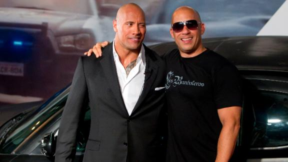 "Dwayne ""The Rock"" Johnson and Vin Diesel are apparently no longer close. It all kicked off in 2016 when Johnson wrote in a now deleted Instagram posting about male co-stars he called ""Candy a**es."" Some fans theorized he was talking about Diesel. In 2018 Johnson confirmed to Rolling Stone magazine that he and Diesel did not film their scenes together in ""The Fate of the Furious."""
