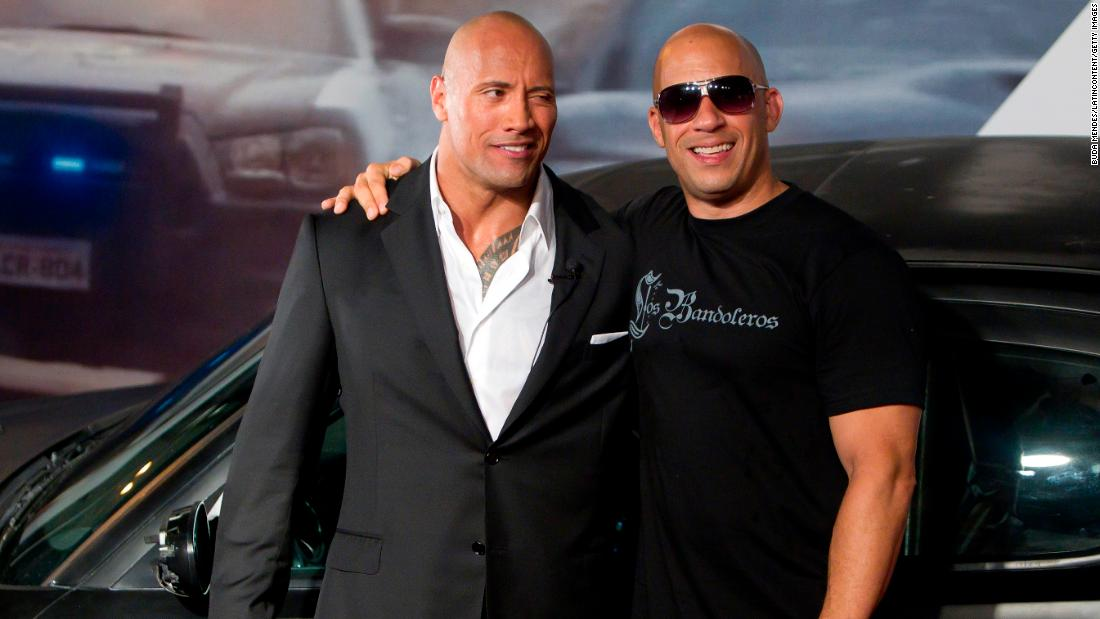 "Dwayne ""The Rock"" Johnson and Vin Diesel are apparently no longer close. It all kicked off in 2016 when Johnson wrote in a now deleted Instagram posting about male co-stars he called ""Candy a**es."" Some fans theorized he was talking about Diesel. In 2018 Johnson <a href=""https://www.rollingstone.com/movies/features/dwayne-johnson-movies-the-rock-rampage-w518693"" target=""_blank"">confirmed to Rolling Stone magazine</a> that he and Diesel did not film their scenes together in ""The Fate of the Furious."""