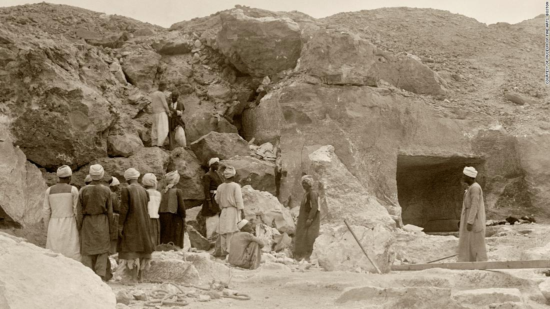 The tomb of Djehutynakht and his wife was first excavated in 1915 by a team of archaeologists from Harvard University and Boston's Museum of Fine Arts. It was found in the ancient Egyptian necropolis of Deir el-Bersha, close to the city of Mallawi, about 250km south of Cairo.