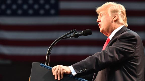 President Donald Trump knocked Democratic Sen. Joe Manchin of West Virginia for voting against the GOP tax reform bill, just a few minutes into his remarks in White Sulphur Springs, West Virginia.