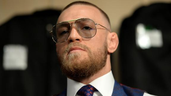 Conor McGregor prior to his boxing match against Floyd Mayweather Jr. in August 2017.