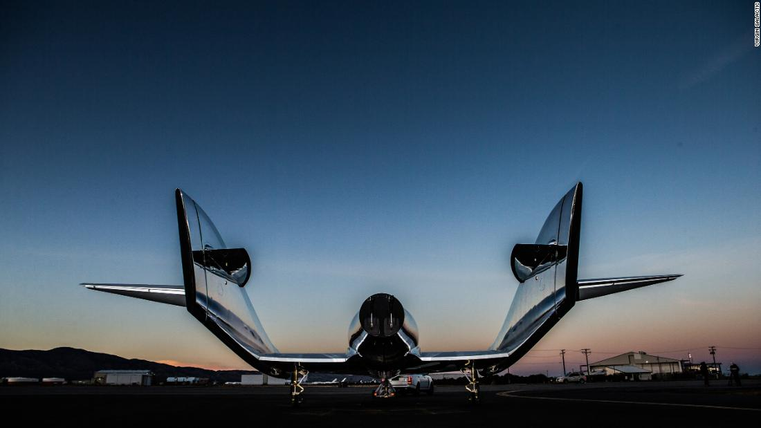 image of Virgin Galactic tests spaceship for tourists