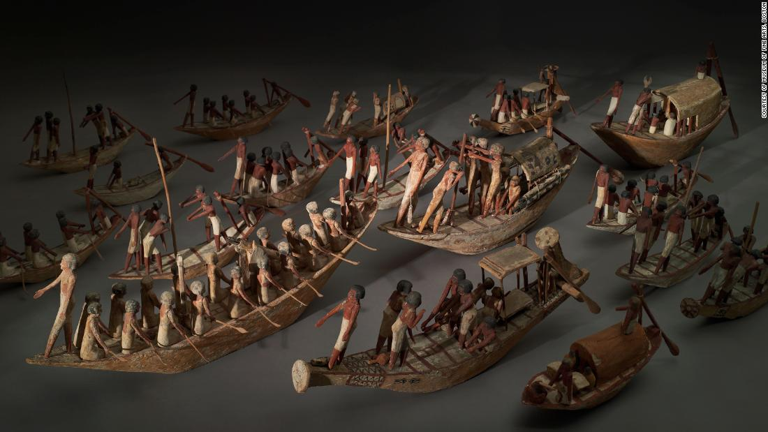 The tomb included some 58 model boats, as well as models of carpenters, weavers, brick-makers, bakers and brewers.