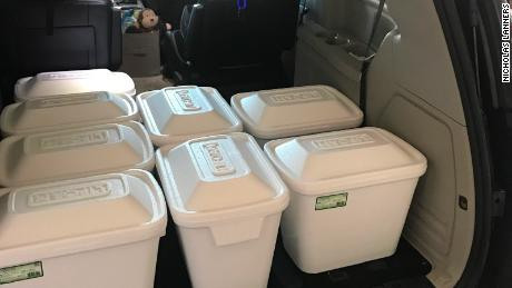 Amanda Lanners needed eight coolers to ship her donated breast milk.