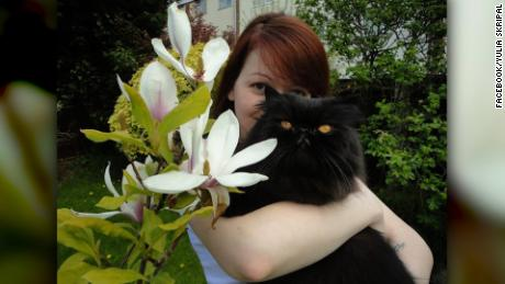 S092020646 Yulia Skripal and black cat Caption:  Facebook photo of Yulia Skripal and black fluffy cat Credit:    Ready For Publishing:    Photographer:  Facebook/Yulia Skripal Source:  Facebook/Yulia Skripal Country:  UK