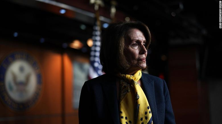 WASHINGTON, DC - MARCH 01:  U.S. House Minority Leader Rep. Nancy Pelosi (D-CA) leaves after a weekly news conference March 1, 2018 on Capitol Hill in Washington, DC. Pelosi held a weekly news conference to fill questions from members of the media. (Alex Wong/Getty Images)