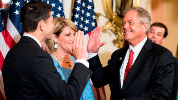 Speaker of the House Paul Ryan, R-Wis., conducts a ceremonial swearing in of Rep. Ralph Norman, R-S.C., in the Capitol on Monday, June 26, 2017. (Photo By Bill Clark/CQ Roll Call)