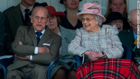 Queen Elizabeth II and Prince Philip attend the 2017 Braemar Highland Gathering in Braemar, Scotland.