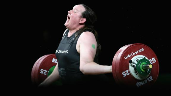 ... Hubbard injured her arm trying to lift 132kg.
