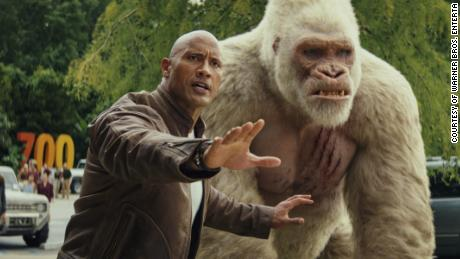 Dwayne Johnson in 'Rampage'