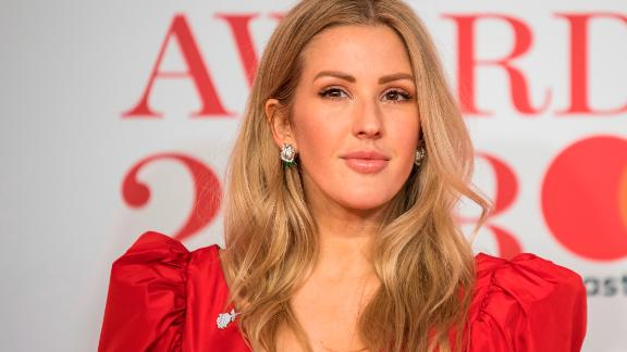 Ellie Goulding poses for photographers at the Brit Awards in London in February.
