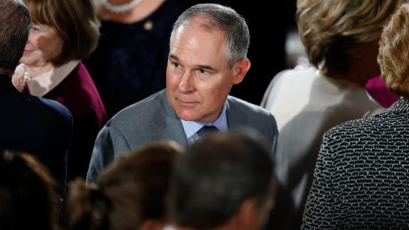 WASHINGTON, DC - JANUARY 20: Oklahoma Attorney General Scott Pruitt, President Donald Trump's nominee to head the Environmental Protection Agency, arrives for the Inaugural Luncheon in the US Capitol January 20, 2017 in Washington, DC. President Donald Trump is attending the luncheon along with other dignitaries after being sworn in as the 45th President of the United States. (Photo by Aaron P. Bernstein/Getty Images)
