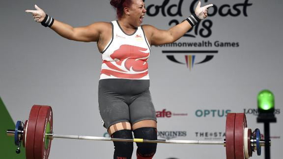 England's Emily Campbell is one weightlifter who has backed Hubbard.