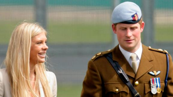 Chelsy Davy and Prince Harry attend his Army Air Corps pilots' course graduation ceremony in May 2010 in Andover, England.