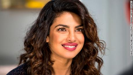 "Priyanka Chopra is pictured on TV show ""Sunday Today with Willie Geist"" in February."