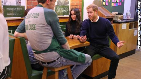 Prince Harry and Meghan Markle have previously shown an interest in the issue of homelessness, visiting a cafe that distributes food to homeless people while on a visit to Edinburgh in February.