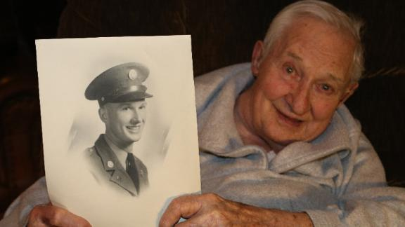 Carl Patrinos, 99, fought with the 32nd Infantry Division in the Pacific.
