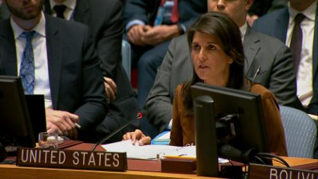 Haley to UN: Only a monster does this